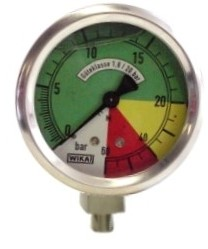 Manometer 63mm 0-20-60 Anschluß unten