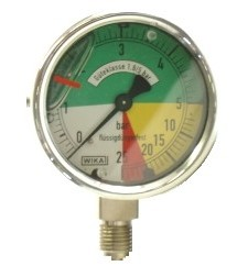 Manometer 63mm 0-5-25 Anschluß unten-0