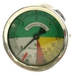 Manometer 63mm 0-5-25 Anschluß hinten-0